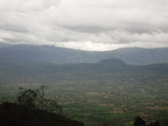 The mountain range at Honde Valley