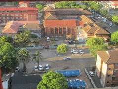 Dominican Convent and the traffic along Selous Avenue
