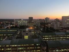 Harare's CBD at dusk