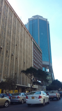The Reserve Bank of Zimbabwe stands out with its unique design